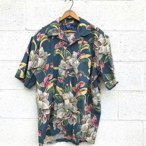 Polo Ralph Lauren Linen Hawaiian Button Down Shirt